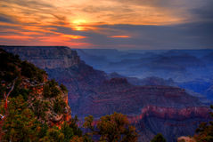 Sunset Grand Canyon Arizona Royalty Free Stock Images