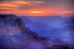 Sunset Grand Canyon Arizona Royalty Free Stock Photography