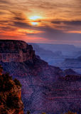 Sunset Grand Canyon Arizona Stock Photos