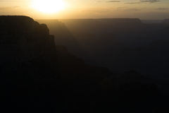 Sunset at the Grand Canyon Stock Photography