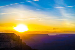 Sunset at the Grand Canyon Stock Images