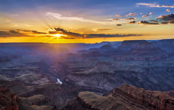 Sunset at Grand Canyon Stock Photo