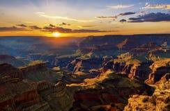 Sunset at Grand Canyon Stock Photos
