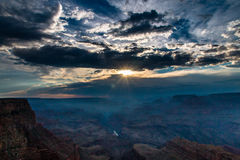 Sunset by the Grand Canyon Stock Photography