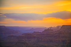 Sunset at Grand Canyon seen from Royalty Free Stock Photo