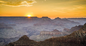 Sunset at the Grand Canyon seen from Desert View Point, South Ri Royalty Free Stock Image