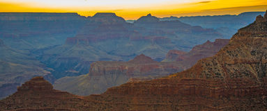 Sunset at the Grand Canyon seen from Desert View Point, South Ri Stock Photos