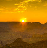 Sunset at the Grand Canyon seen from Desert View Point, South Ri Royalty Free Stock Photography