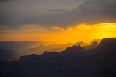 Sunset at Grand Canyon seen from Desert view point, South rim Royalty Free Stock Photography