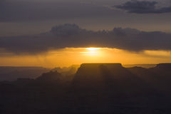 Sunset at Grand Canyon seen from Desert view point, South rim Royalty Free Stock Image