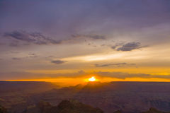 Sunset at Grand Canyon seen from Desert view point, South rim Stock Photography
