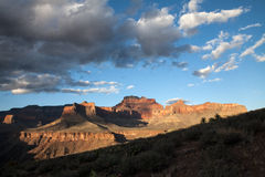 Sunset in the Grand Canyon, USA. Canyon landscape near the South Kaibab Trail between the Southern Rim and the Colorado River Royalty Free Stock Photography