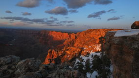 Sunset in Grand Canyon stock video footage