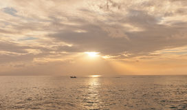 Sunset on Grand Cayman Island, Cayman Islands Stock Image
