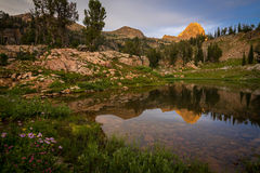 Sunset in the Grand Teton National Park Stock Images