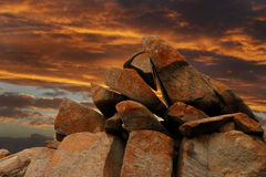 Sunset on Granite Stock Photography