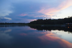 Sunset at Grassy Pond Recreation Area Stock Images