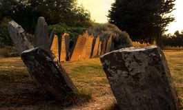 Sunset graves Royalty Free Stock Photo