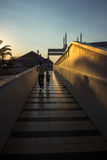Sunset. At great mosque central java indonesia Stock Photos