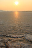 Sunset, Great Salt Lake, Utah. Royalty Free Stock Photo