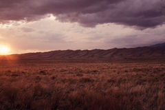 Sunset in Great Sand Dunes National Park Stock Photo