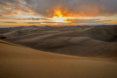 Sunset at Great Sand Dunes Stock Image
