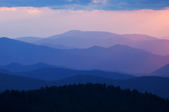 Sunset Great Smoky Mountains Royalty Free Stock Image
