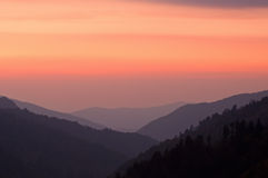 Sunset Great Smoky Mountains Stock Image