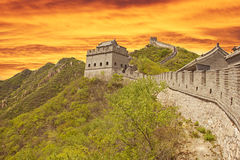 Sunset in the Great Wall Stock Photos
