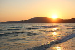Sunset. In Greece Stock Photo