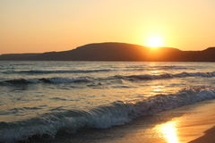Sunset. In Greece Royalty Free Stock Photos
