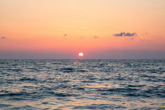 Sunset on Greece Royalty Free Stock Image