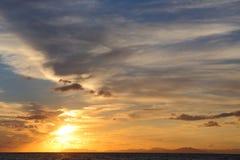 Sunset in Greece. Island Zakynthos Royalty Free Stock Photography