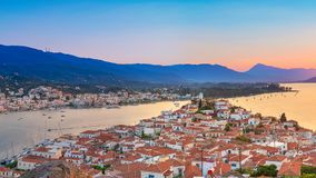 Sunset in Greece, Poros Stock Image