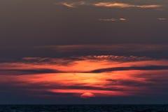 Sunset on Greece Stock Image