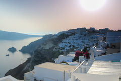 Sunset on the Greek Islands Royalty Free Stock Image