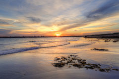 Sunset Greenhills Beach, Australia Stock Photography
