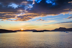 Sunset Greenland Royalty Free Stock Photo