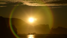 Sunset in the Greenland stock video footage