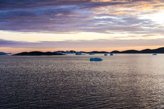 Sunset Greenland Stock Photography