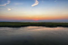 Sunset at Grey's Beach. In Cape cod Mass stock image