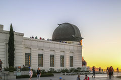 Sunset at The Griffith Observatory Stock Photo