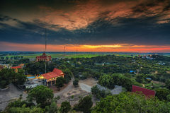 Sunset ground. High angle shots Royalty Free Stock Photography