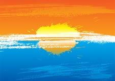 Sunset grunge Stock Images