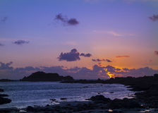 Sunset on guernsey Royalty Free Stock Image
