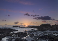 Sunset on guernsey Royalty Free Stock Images