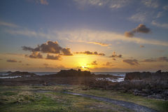 Sunset guernsey Royalty Free Stock Photography