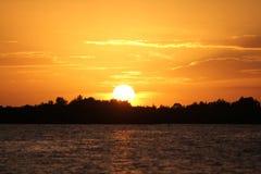 Sunset. On the Gulf Coast of Florida Stock Photography