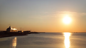 Sunset on the Gulf of Finland Royalty Free Stock Images
