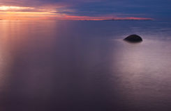 Sunset on the Gulf of Finland, Russia Stock Photography